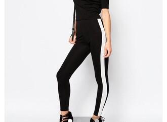 jeans black white line