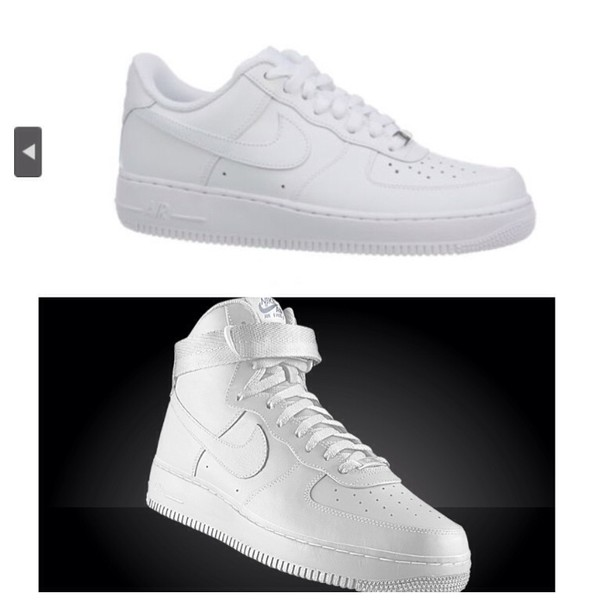 Low White Shoes