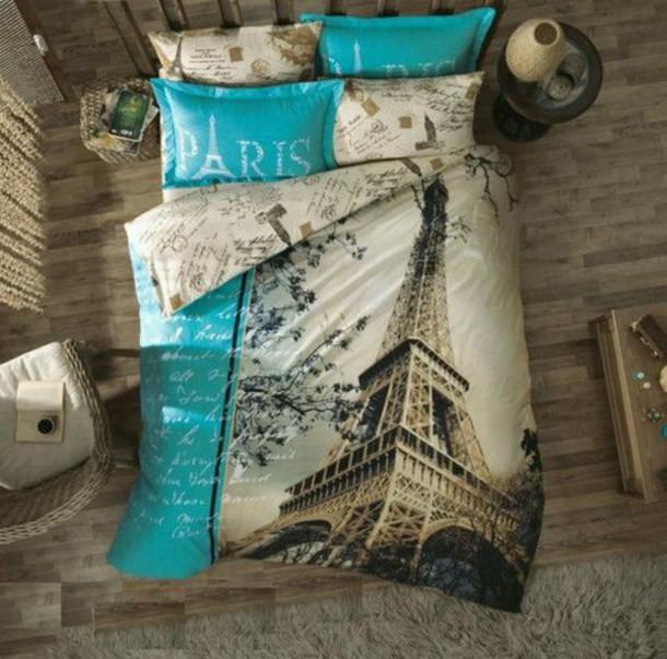 home accessory paris bedding eiffel tower pillow bedding