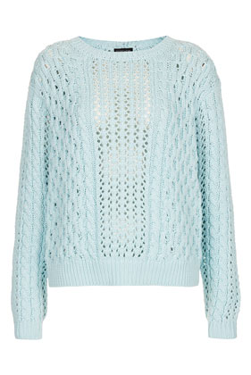 Knitted Tie Back Cable Top - Topshop