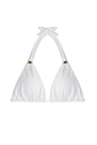 bikini bikini top halter bikini white swimwear
