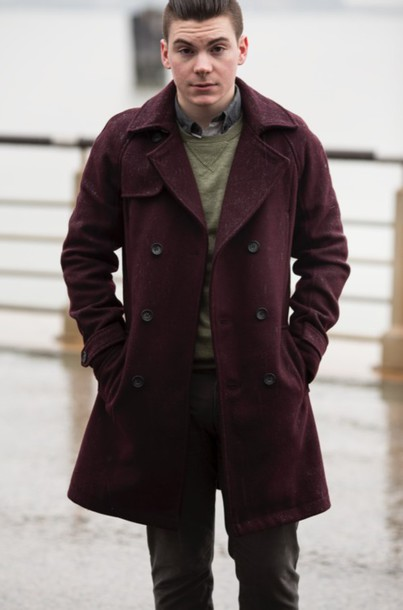 fashion is to diaries blogger mens coat burgundy