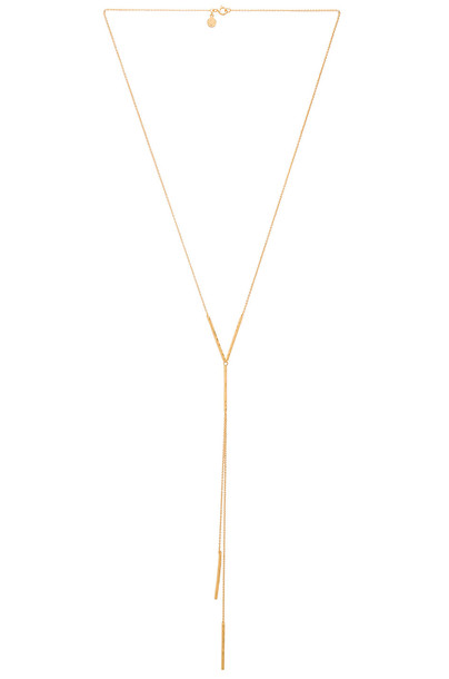 gorjana Kylie Lariat Necklace in gold / metallic