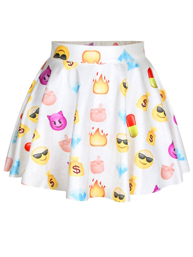 2015 new york hot sale fashion wild cute emoji printed high