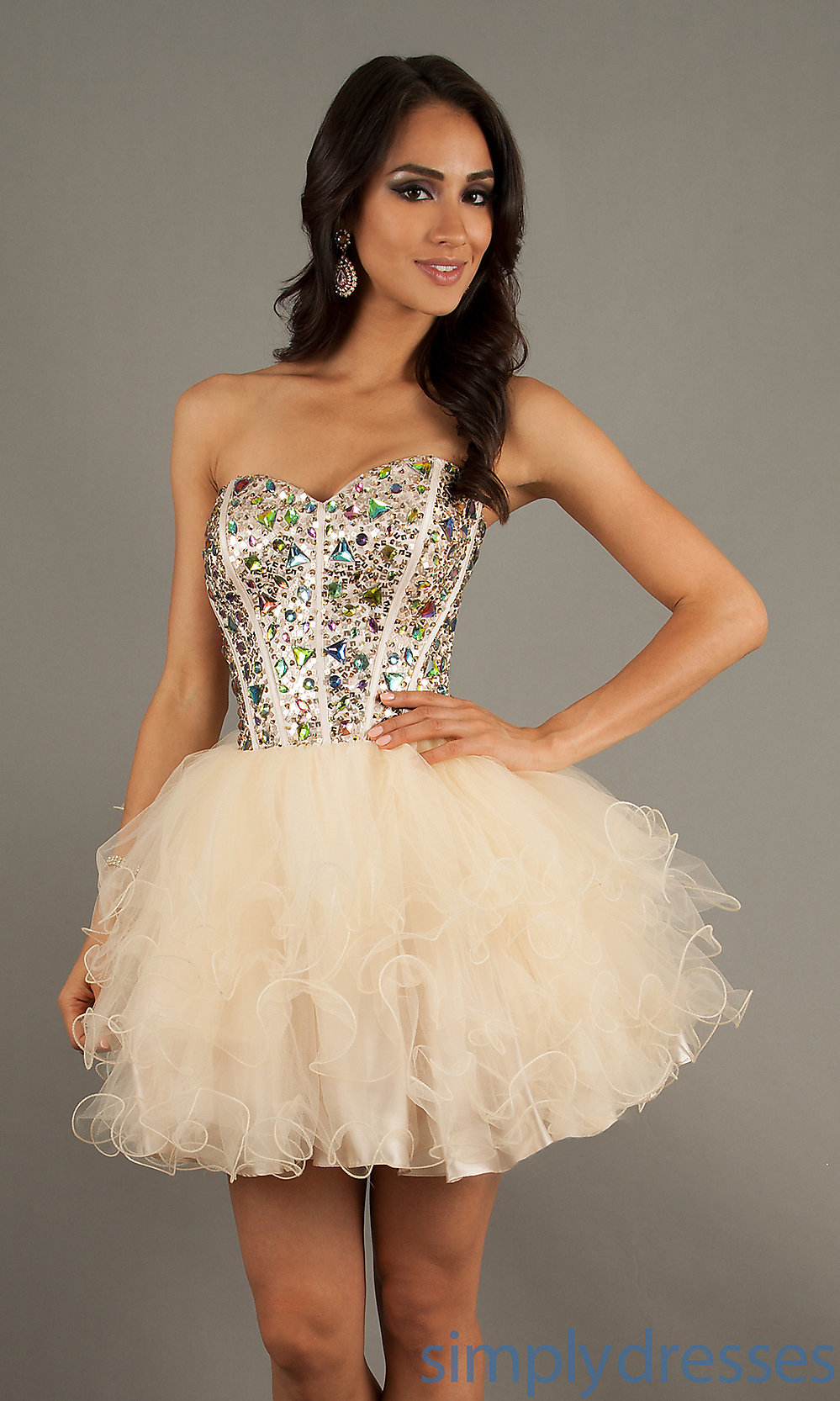 blush BL-9653 For Cheap, blush Strapless dress Collection Online