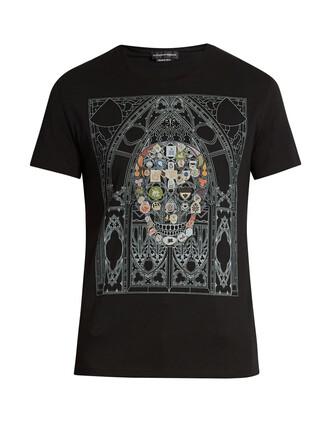 t-shirt shirt cotton t-shirt skull cotton print top
