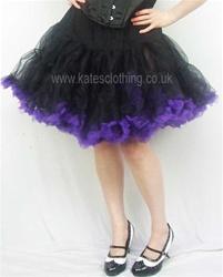 Mercy black and purple ruffle petticoat skirt