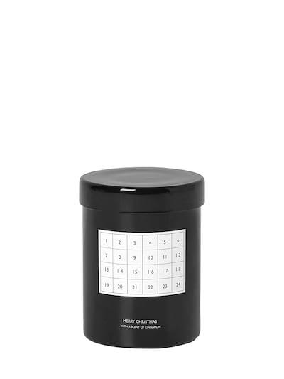 FERM LIVING Christmas Calendar Scented Candle Black