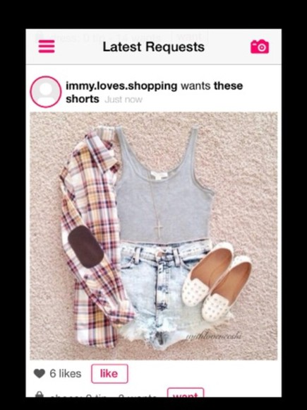 tank top jacket shoes shorts jewels