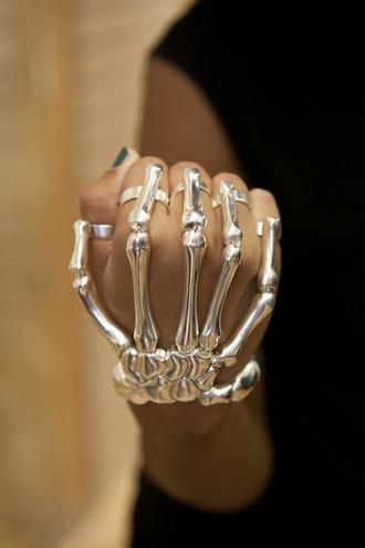 jewels ring bracelets bones jewelry skeleton halloween