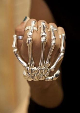jewels silver skeleton bonus ring bracelets ring bracelet