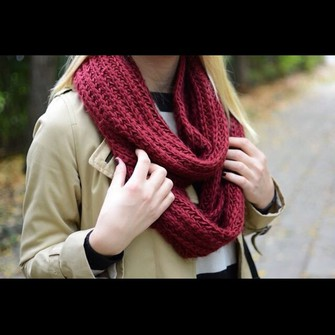 scarf scarf red
