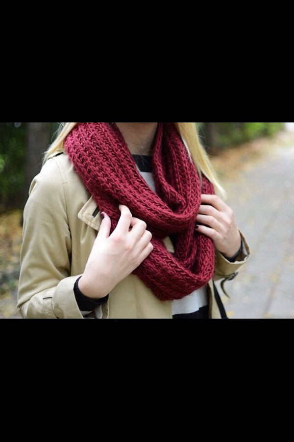 scarf red scarf