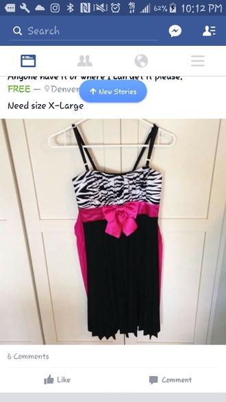dress mini dress bow dress zebra print