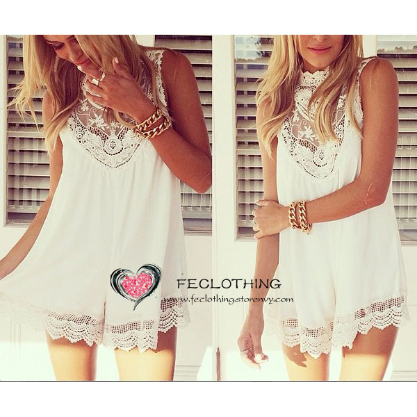 Lace crochet tunic rompers · fe clothing · online store powered by storenvy