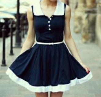 dress super cute navy blue dress vintage