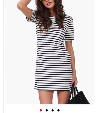 dress t-shirt dress striped dress