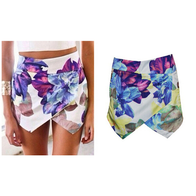 Flower print shorts skirts · fe clothing · online store powered by storenvy