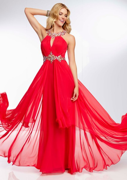 dress high neck halter prom gown 2014 hot sale prom