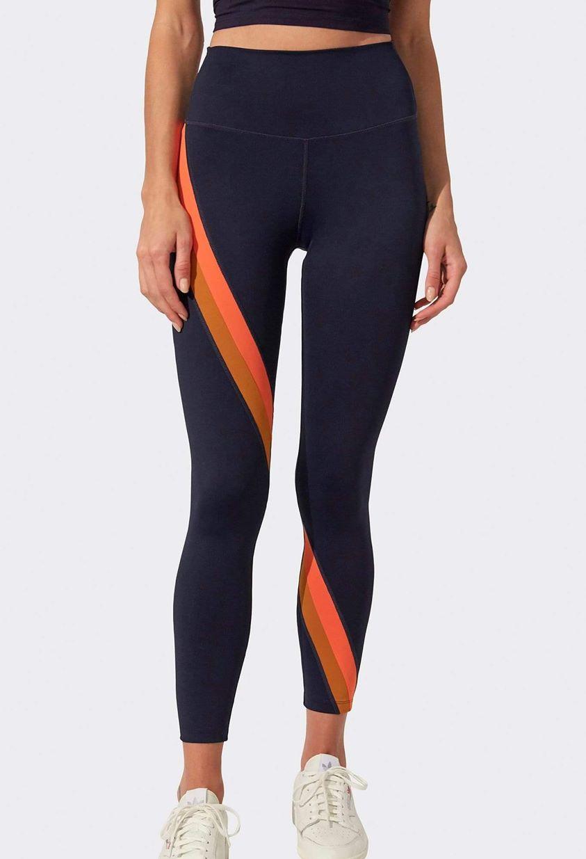 Bella High Waist 7/8 Legging - Indigo/ Orange Multi