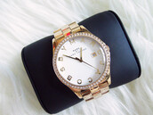 jewels,watch,marc by marc jacobs,gold,gold watch,marc jacobs watch,marc jacobs,diamonds