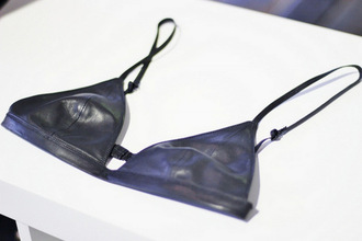 underwear bra leather triangle