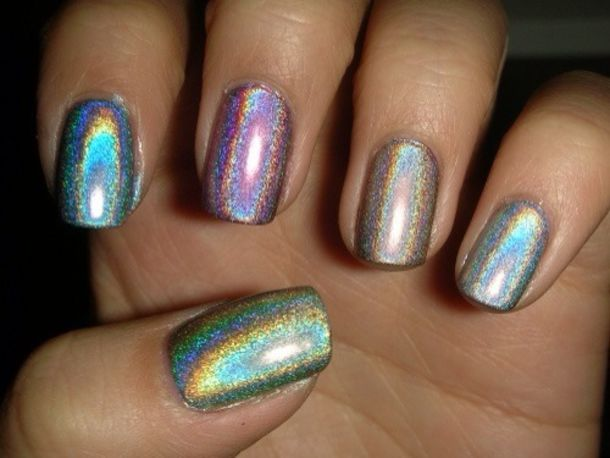 Nail Polish Rainbow Nail Fashion Nail Art Sparkle Shiny