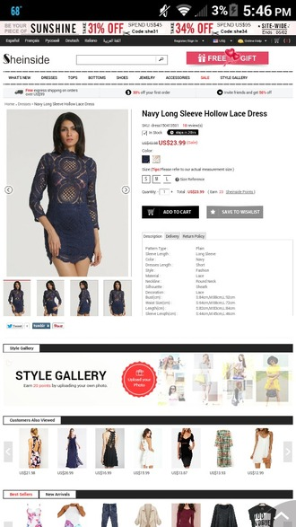 dress navy dress long sleeves lace bodycon dress