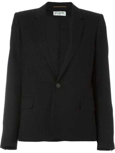 Saint Laurent blazer women classic black silk wool jacket