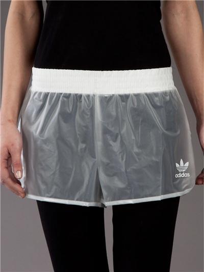 Adidas Originals By Jeremy Scott Transparent Running Short -  - Farfetch.com