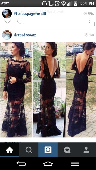 dress ig instagram instagramfashion lace dress longsleeved bodycon long prom dress long dress little black dress