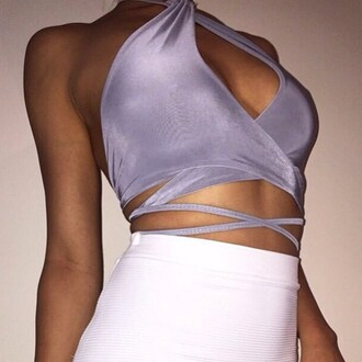 top lace top crop tops tan tumblr tumblr outfit style fashion white purple skirt shirt classy instagram girly