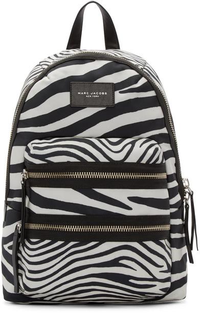 Marc Jacobs zebra backpack white black off-white bag