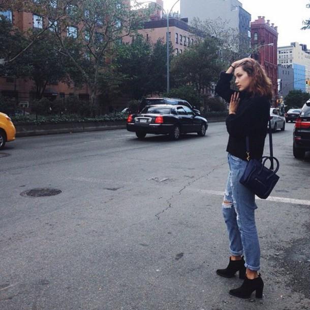 jeans bellahadid casual