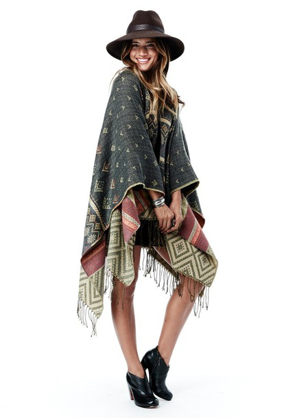 sweater lovestitch poncho winter style