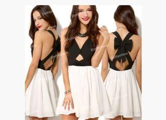 dress bow back dress
