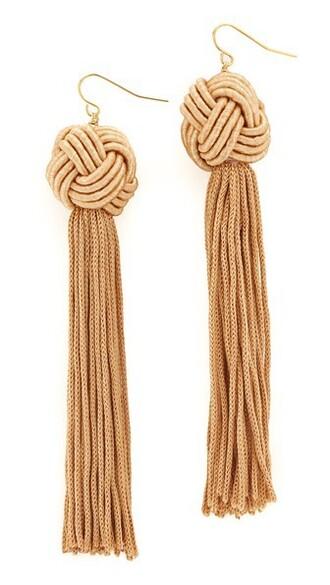 tassel tan earrings jewels