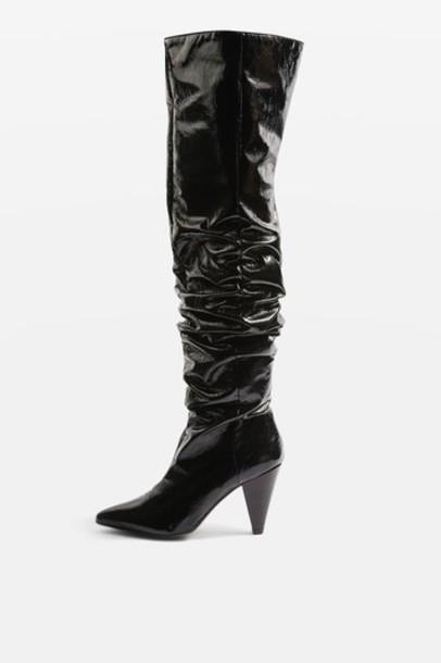 Topshop high black shoes