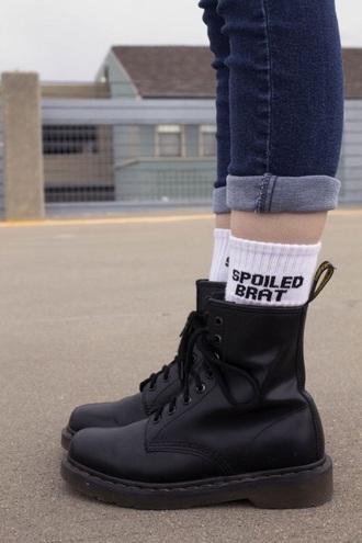 socks white black grunge cool b&w
