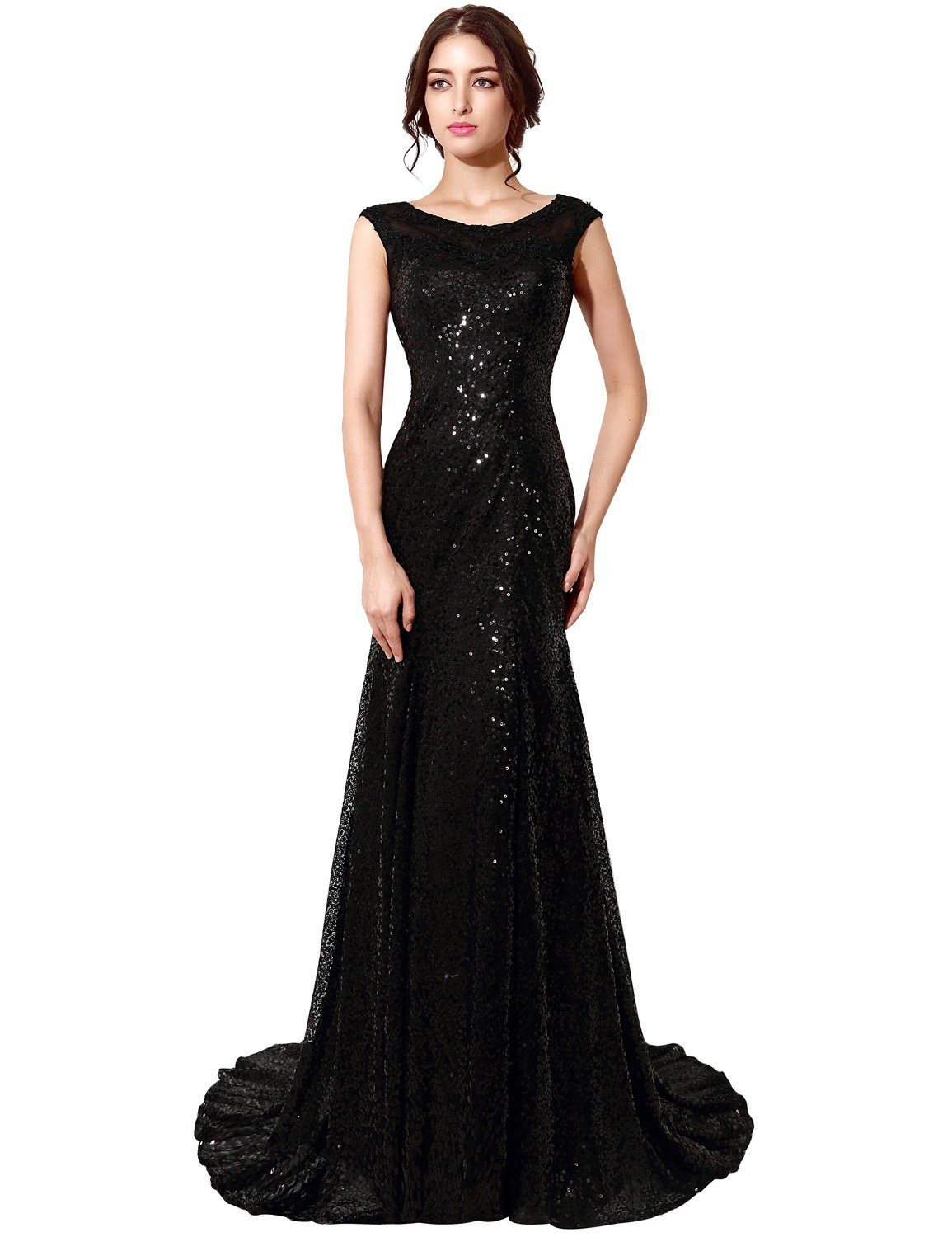Amazon.com: Clearbridal Women\'s Mermaid Sequin Long Evening Gown For ...