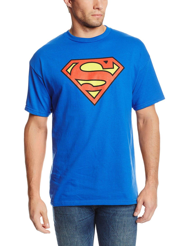 Amazon.com  DC Comics Superman Classic Logo Men s Royal Blue T ... 8d578e55b9
