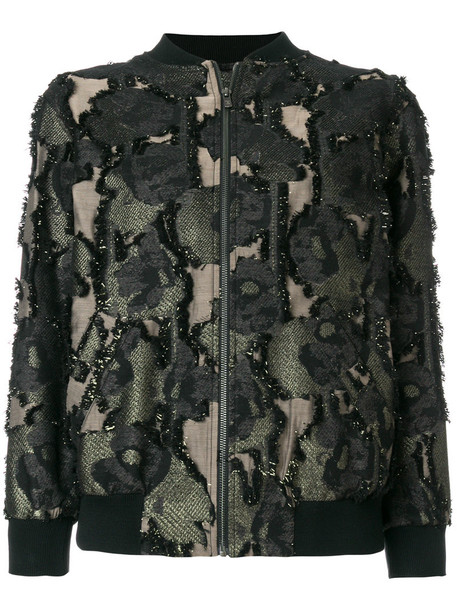 Paul & Joe jacket bomber jacket women camouflage cotton black