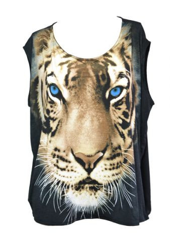 Tiger Print Top T-Shirt – Glamzelle