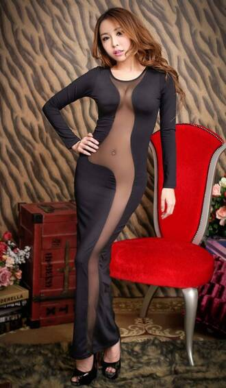 dress black dress sexy dress resille