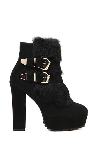 shoes boots black heels winter boots zaful