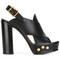 Chloé mischa sandals, women's, size: 38, black, calf leather/leather