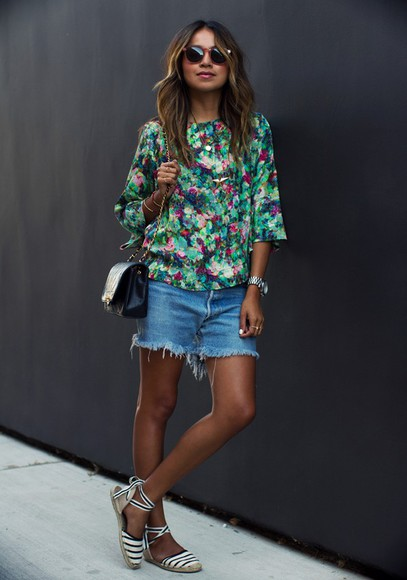sincerely jules blouse shorts shoes jewels dress bag sunglasses tank top
