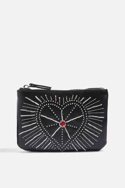 Topshop embellished purse black bag