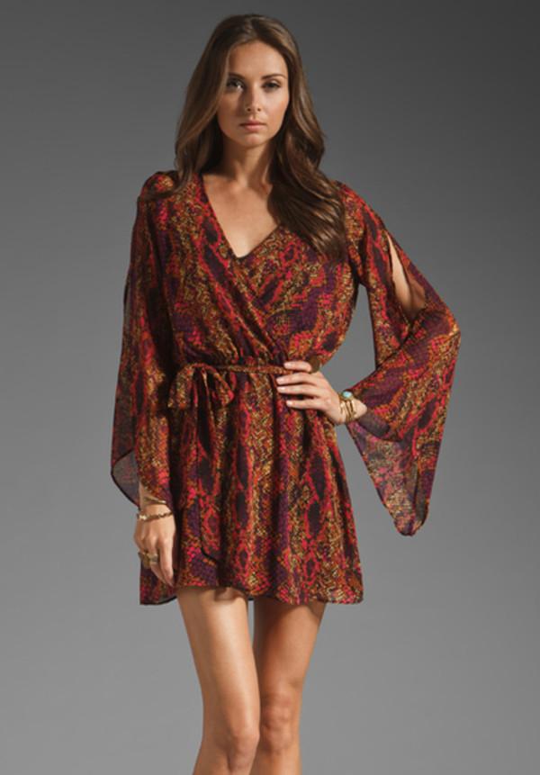 dress dolce vita dv dolce vita boho bohemian boho chic trendy fashion fashionista designer sheer bohemian dress bohemian