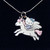 "Hello Kitty Unicorn Necklace Silver Chain 1"" Charm 